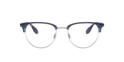 Ray Ban Rx - RX6396 Silver/Clear Phantos Unisex Eyeglasses - 53mm