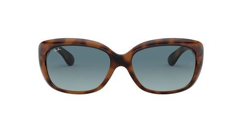 Ray Ban - Jackie Ohh Havana/Blue to Grey Gradient Butterfly Women Sunglasses - 58mm