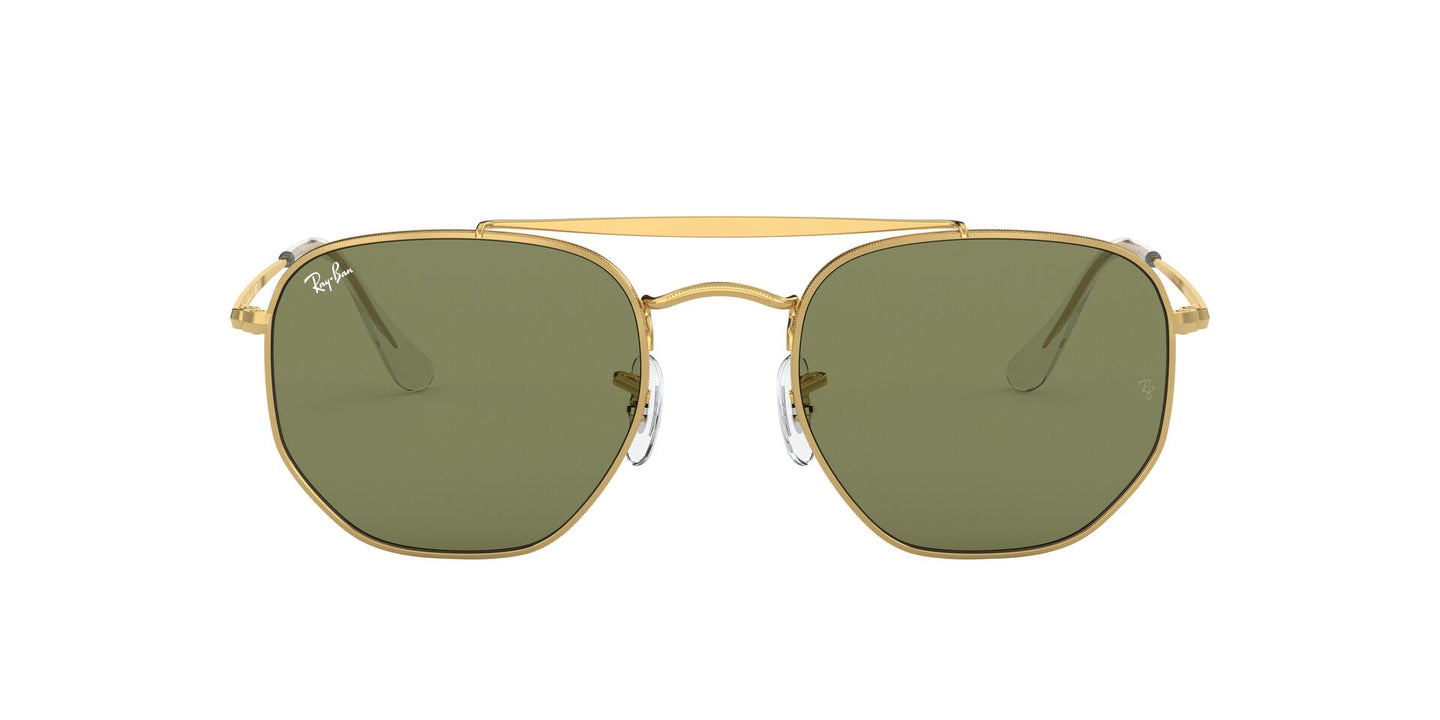 Ray Ban - Marshal Gold/Green Bottol Irregular Unisex Sunglasses - 54mm