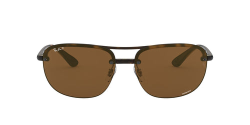 Ray Ban - Chromance Havana/Brown Polarized Square Men Sunglasses - 63mm