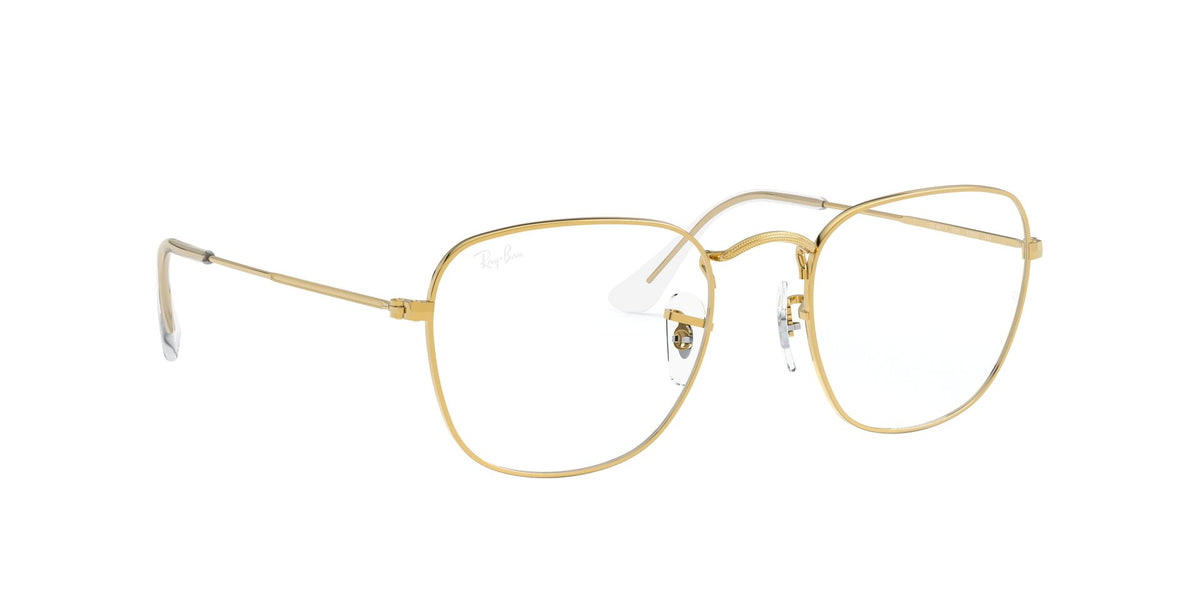 Ray Ban Rx - Frank Legend Gold Square Unisex Eyeglasses - 51mm