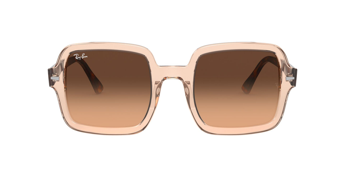 Ray Ban - RB2188 Transparent Light Brown Square Women Sunglasses - 53mm
