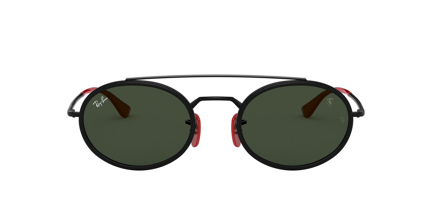 Ray Ban - Scuderia Ferrari Black/Green Oval Unisex Sunglasses - 52mm