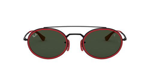 Ray Ban - Scuderia Ferrari Black Oval Unisex Sunglasses - 52mm