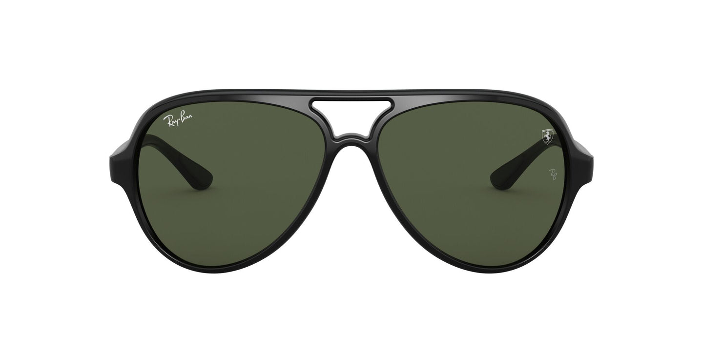 Ray Ban - Scuderia Ferrari Black/Green Aviator Unisex Sunglasses - 57mm
