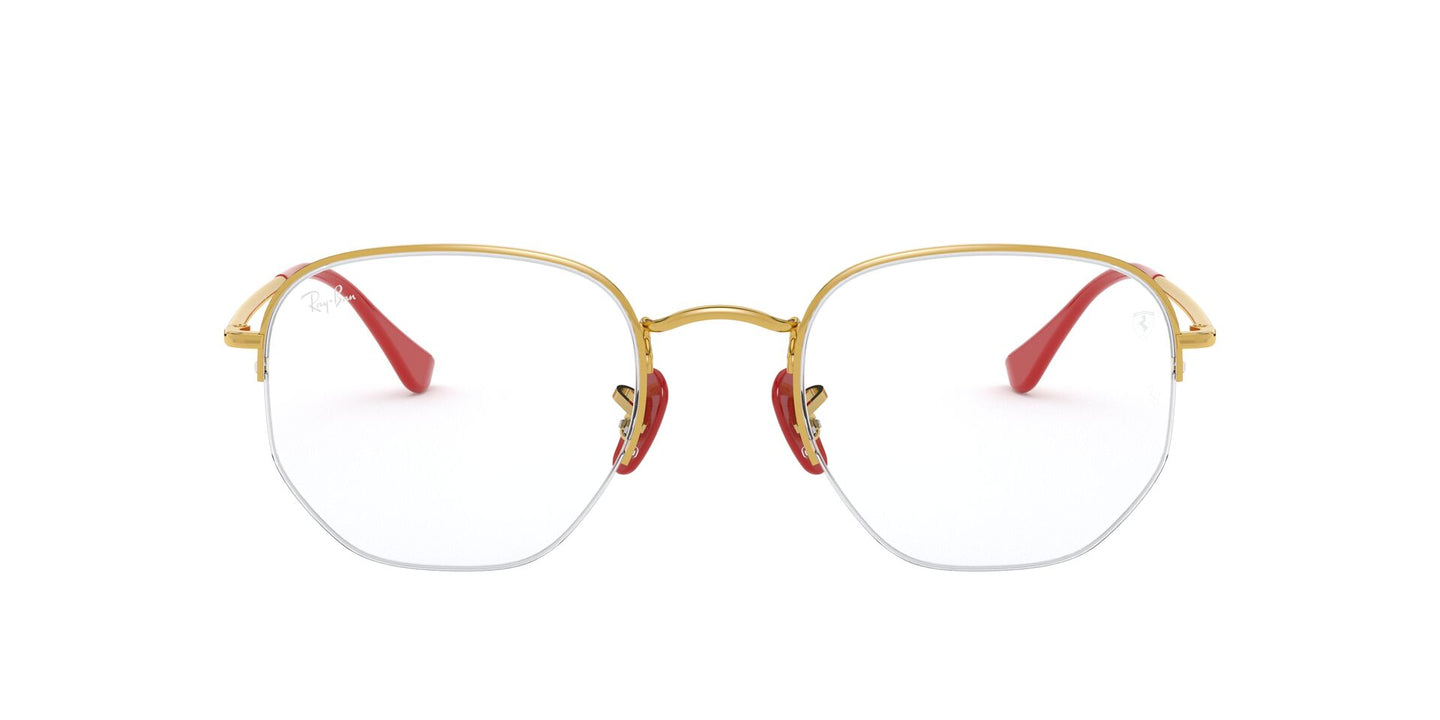 Ray Ban Rx - RX6448M Gold Irregular Unisex Eyeglasses - 50mm