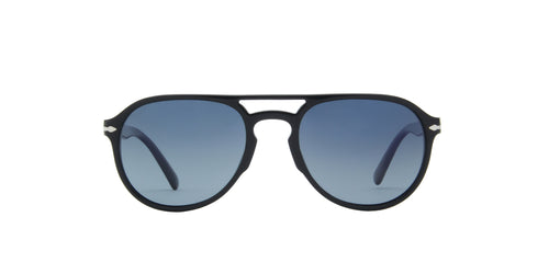Persol - El Profesor Sergio Black/Blue Gradient Polarized Aviator Men Sunglasses - 55mm
