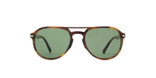 Persol - El Profesor Sergio Caffe'/Light Green Polarized Aviator Men Sunglasses - 55mm