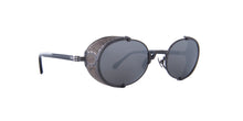 Matsuda - 10610H Matte Black/Silver Mirror Oval Unisex Sunglasses - 51mm