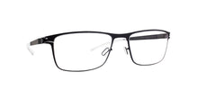 Mykita - Garth Black/Clear Rectangular Unisex Eyeglasses - 51mm