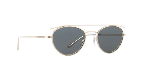 Oliver Peoples - Hightree White Gold Oval Men Sunglasses - 49mm