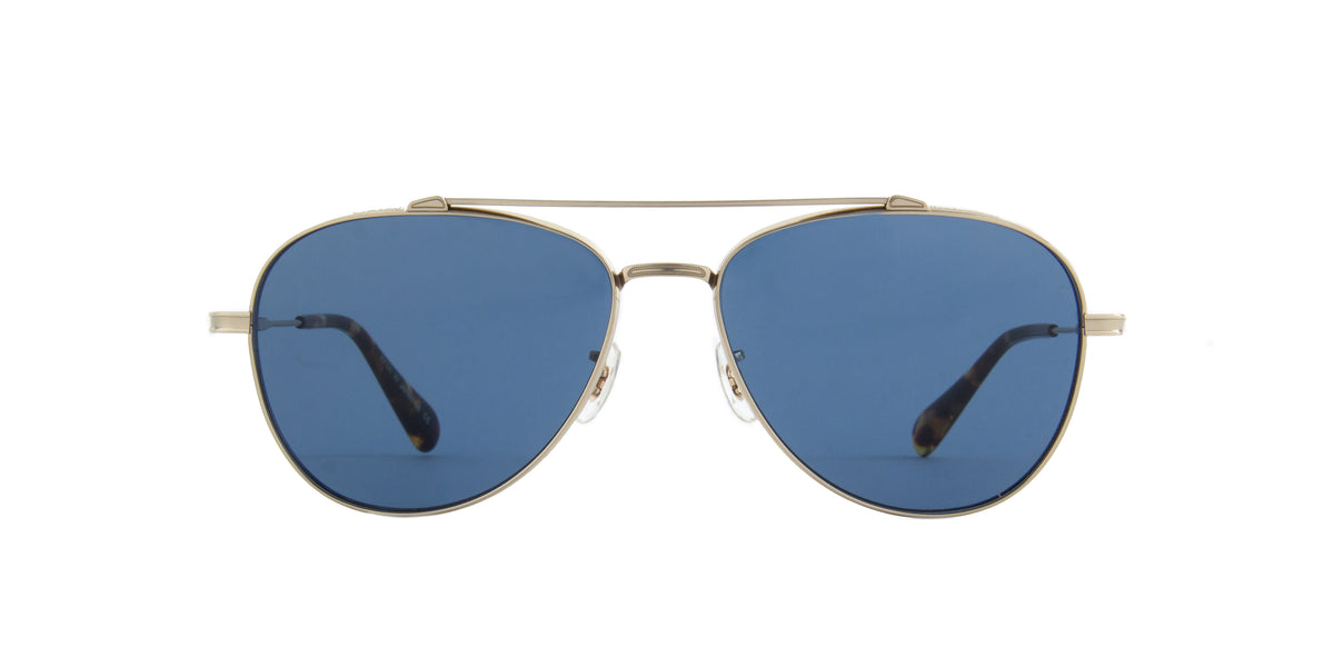Oliver Peoples - Rikson Soft Gold Aviator Men Sunglasses - 56mm