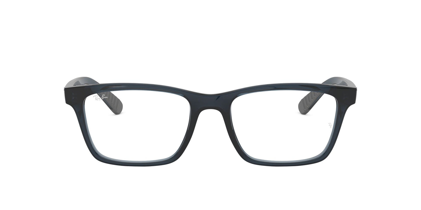 Ray Ban Rx - RX7025 Trasparent Grey/Blue Square Unisex Eyeglasses - 53mm
