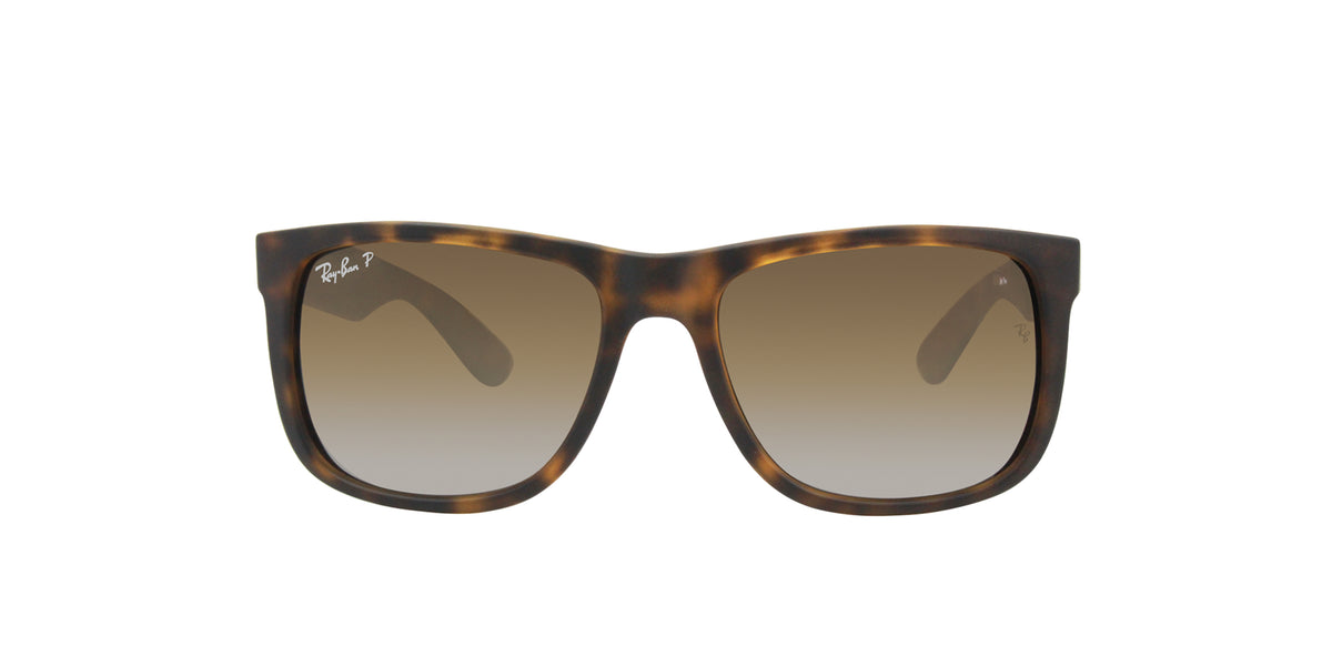 Ray Ban - Justin Tortoise/Brown Gradient Polarized Rectangular Unisex Sunglasses - 54mm