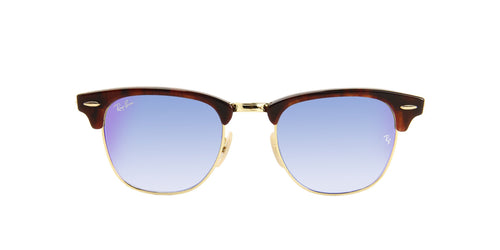 Ray Ban - Clubmaster Tortoise Oval Unisex Sunglasses - 49mm