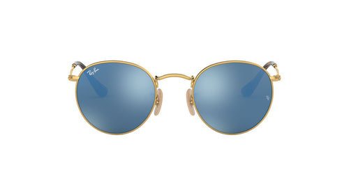 Ray Ban - RB3447N Gold Oval Unisex Sunglasses - 50mm
