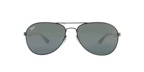 Ray Ban - RB3549 Black/Green Aviator Unisex Sunglasses - 61mm