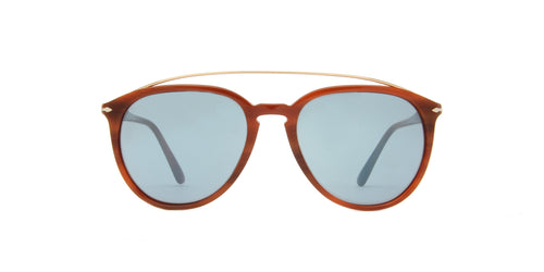Persol PO3159S Brown / Blue Lens Mirror Sunglasses