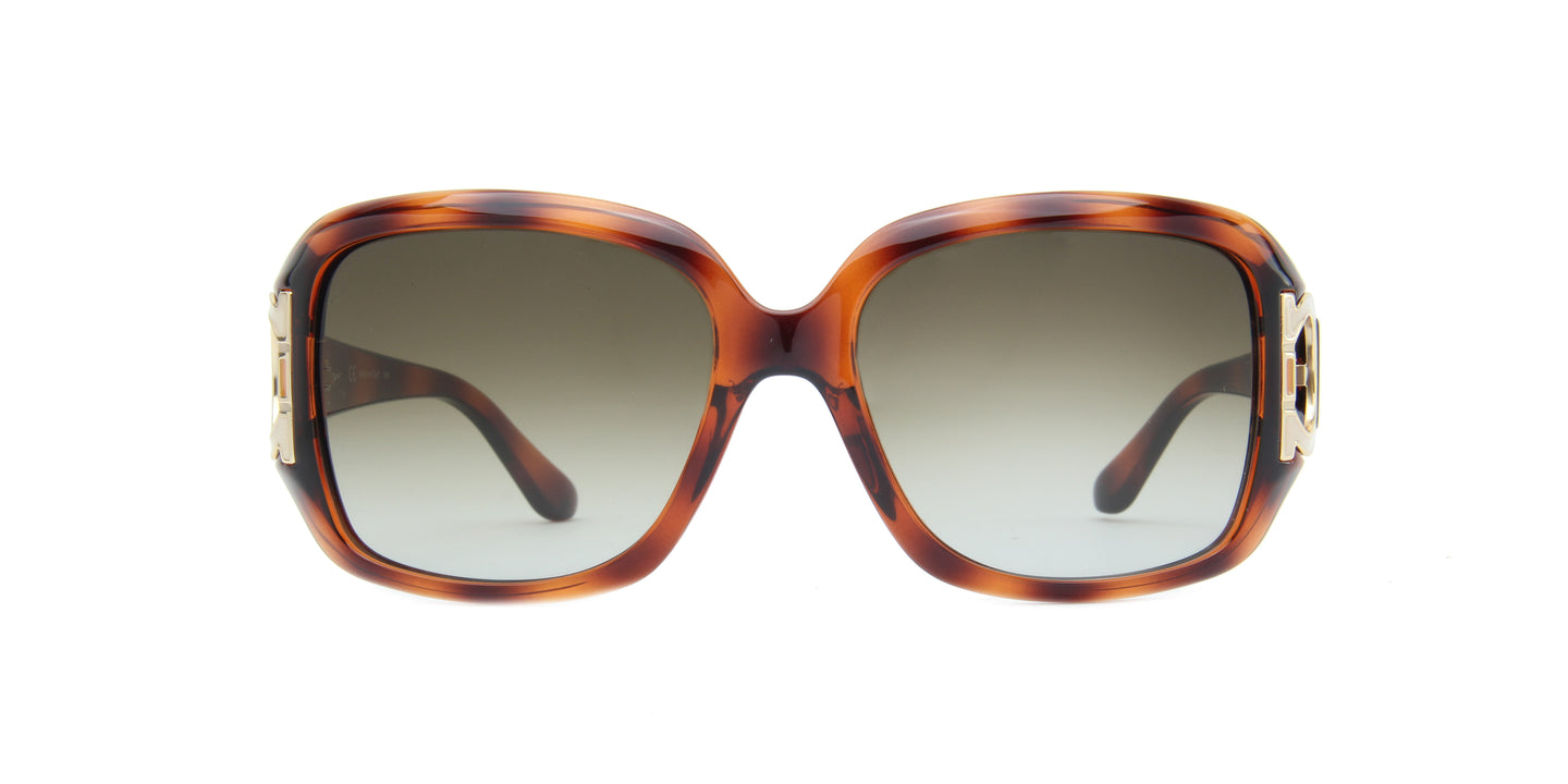 Salvatore Ferragamo - SF666/S Dark Tortoise/Grey Butterfly Women Sunglasses - 55mm