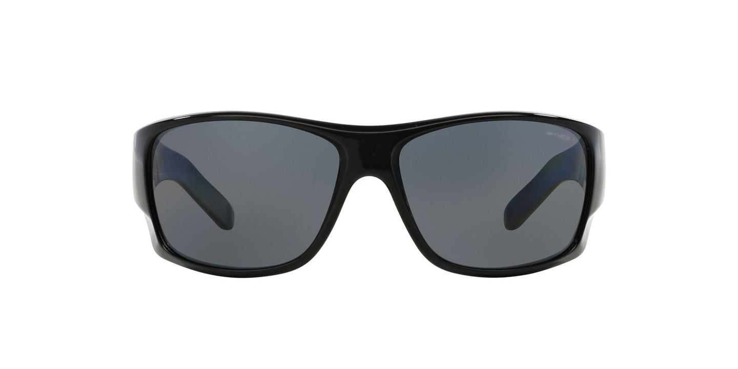 Arnette - AN4215 Black Rectangle Men Sunglasses - 66mm