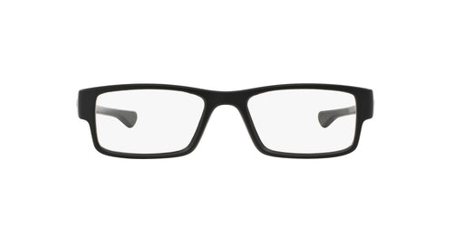 Oakley - Airdrop Satin Black/Clear Rectangle Men Eyeglasses - 57mm