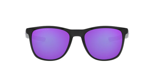 Oakley - Trillbe X Polished Black Ink/Violet Iridium Rectangle Men Polarized Sunglasses - 52mm
