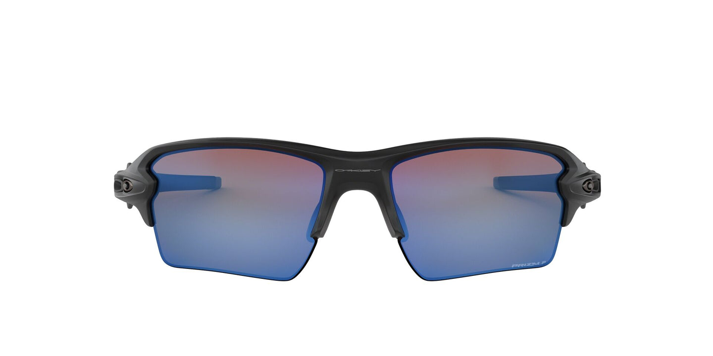 Oakley - Flak 2.0 XL Black/Blue Semi-Rimless Men Sunglasses - 59mm