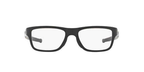Oakley - OX8091 Satin Black Rectangle Men Eyeglasses - 55mm