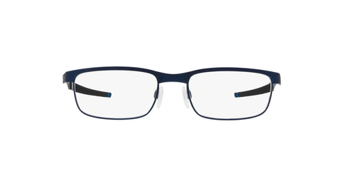 Oakley - Steel Plate Powder Midnight/Demo Lens Rectangle Men Eyeglasses - 54mm
