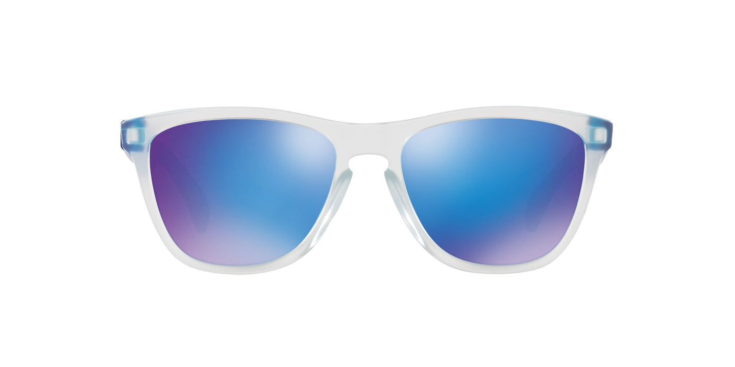 Oakley - Frogskins Asian Fit Clear/Blue Square Unisex Sunglasses - 54mm