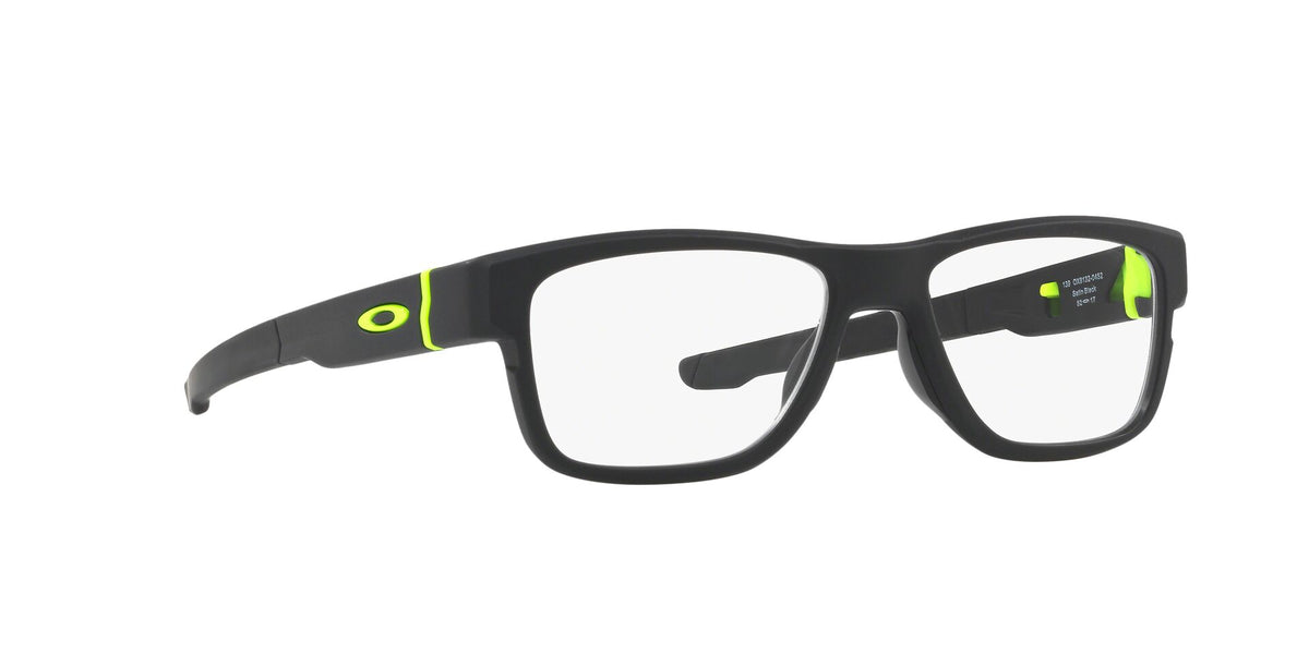 Oakley - Crossrange Switch Satin Black/Clear Square Men Eyeglasses - 54mm