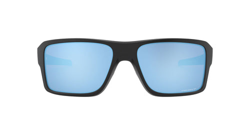 Oakley - Double Edge Matte Black/Prizm Deep Water Polarized Rectangle Men Sunglasses - 66mm