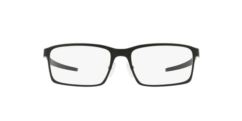 Oakley - Base Plane Satin Black/Clear Rectangle Men Eyeglasses - 54mm