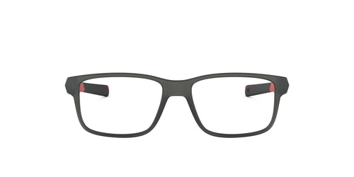 Oakley - Field Day Satin Grey Smoke/Clear Square Men Eyeglasses - 48mm