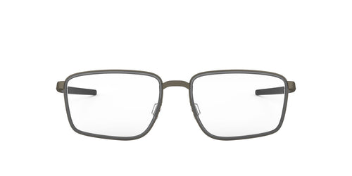 Oakley - OX3235 Pewter/Satin Grey Smoke Square Men Eyeglasses - 52mm