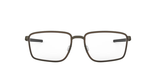 Oakley - OX3235 Pewter/Matte Dark Brown Square Men Eyeglasses - 54mm