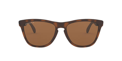 Oakley - Frogskins Mix Matte Brown Tortoise/Prizm Tungsten Polarized Cat Eye Unisex Sunglasses - 55mm