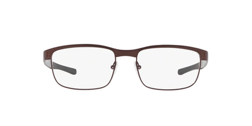 Oakley - Surface Plate Satin Corten/Clear Square Men Eyeglasses - 52mm