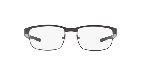 Oakley - Surface Plate Satin Lead/Clear Rectangular Men Eyeglasses - 52mm
