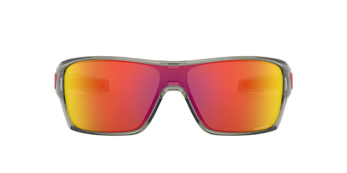 Oakley - Turbine Rotor Grey Ink/Prizm Ruby Rectangle Men Sunglasses - 32mm