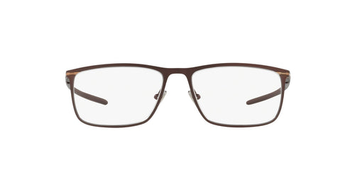Oakley - Tie Bar Satin Corten/Clear Rectangle Men Eyeglasses - 53mm