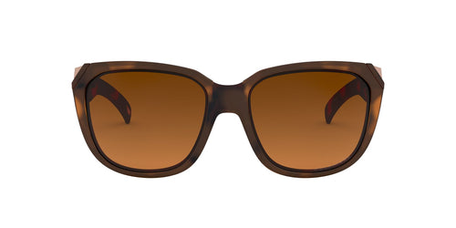 Oakley - Rev Up Matte Brown Tortoise/Brown Gradient Polarized Square Women Sunglasses - 59mm