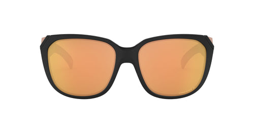 Oakley - OO9432 Matte Black Square Women Polarized Sunglasses - 59mm