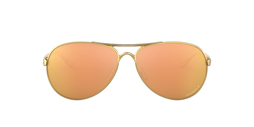 Oakley - OO4079 Polished Gold Aviator Women Polarized Sunglasses - 59mm