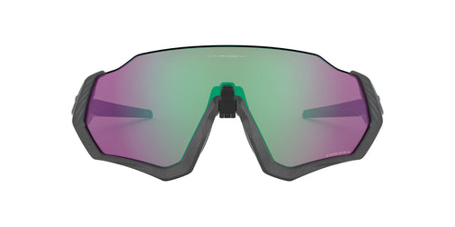 Oakley - Flight Jacket Matte Steel/Prizm Road Jade Wrap Men Sunglasses - 37mm