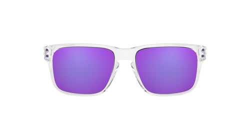 Oakley - Holbrook XS Polished Clear/Violet Iridium Square Men Sunglasses - 53mm