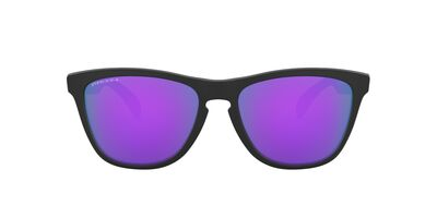 Oakley - Frogskins Matte Black/Prizm Violet Square Men Sunglasses - 55mm
