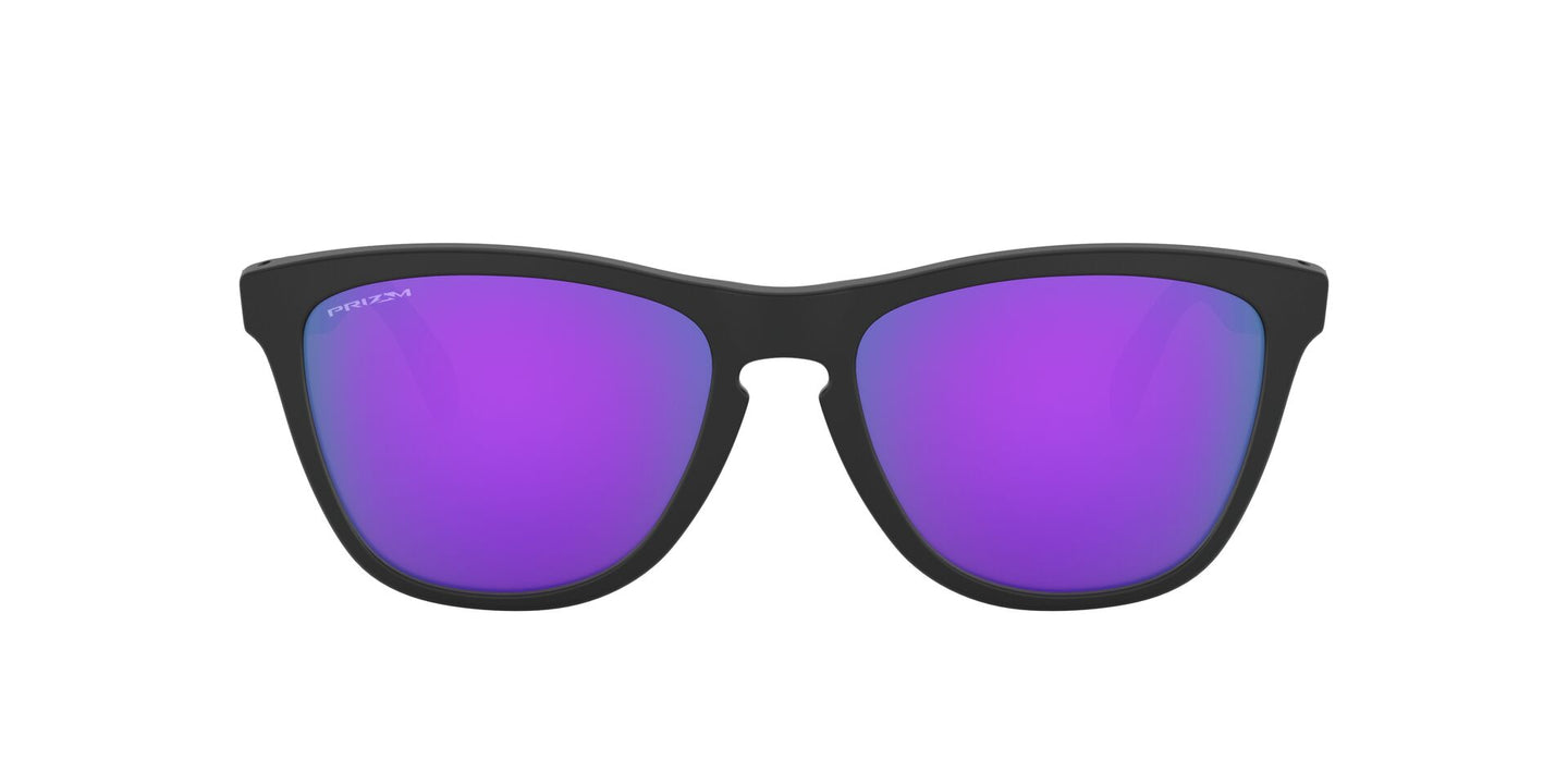 Oakley - Frogskins Mix Matte Black/Prizm Violet Cat Eye Unisex Sunglasses - 55mm