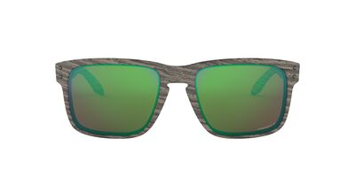 Oakley - OO9102 Woodgrain Square Men Polarized Sunglasses - 57mm