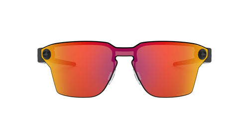 Oakley - Lugplate Polished Black/Prizm Ruby Square Men Sunglasses - 39mm